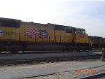UP # 5009 IN COMMERCE YARD