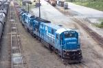 CSX 7129 (W071) ballast train