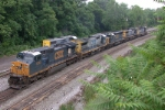CSX 7393 & Co just brought in an EB intermodal over Sandpatch.