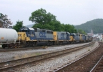 CSX 541 takes WB  freight toward Sandpatch