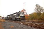 NS SD45-2 1703 leads OI16 into Browns Yard