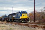 UntitCSX SD40-2 8829 leads OI16 into Browns Yardled
