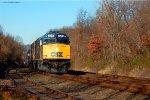 The CSX OCS, w/ F40PH-2s 9999 & 9998 head east on the Lehigh Line in Piscataway, NJ