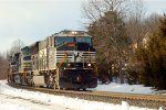 NS SD70M 2599 on the point of intermodal 20R
