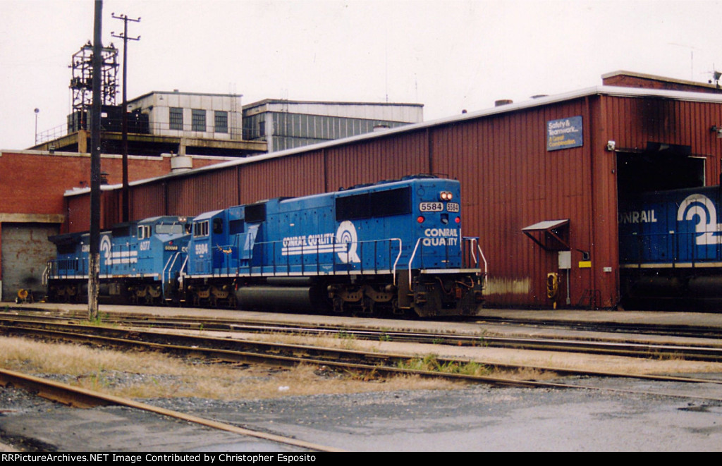 Conrail SD60I 5584  & 8-40CW 6077