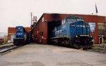 Conrail SD60I 5584 & 8-40CW 6063