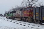 BNSF 8230 and 8196