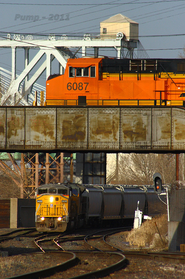 BNSF and UP Trains Over and Under