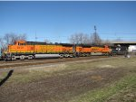 BNSF 5107 and 9156