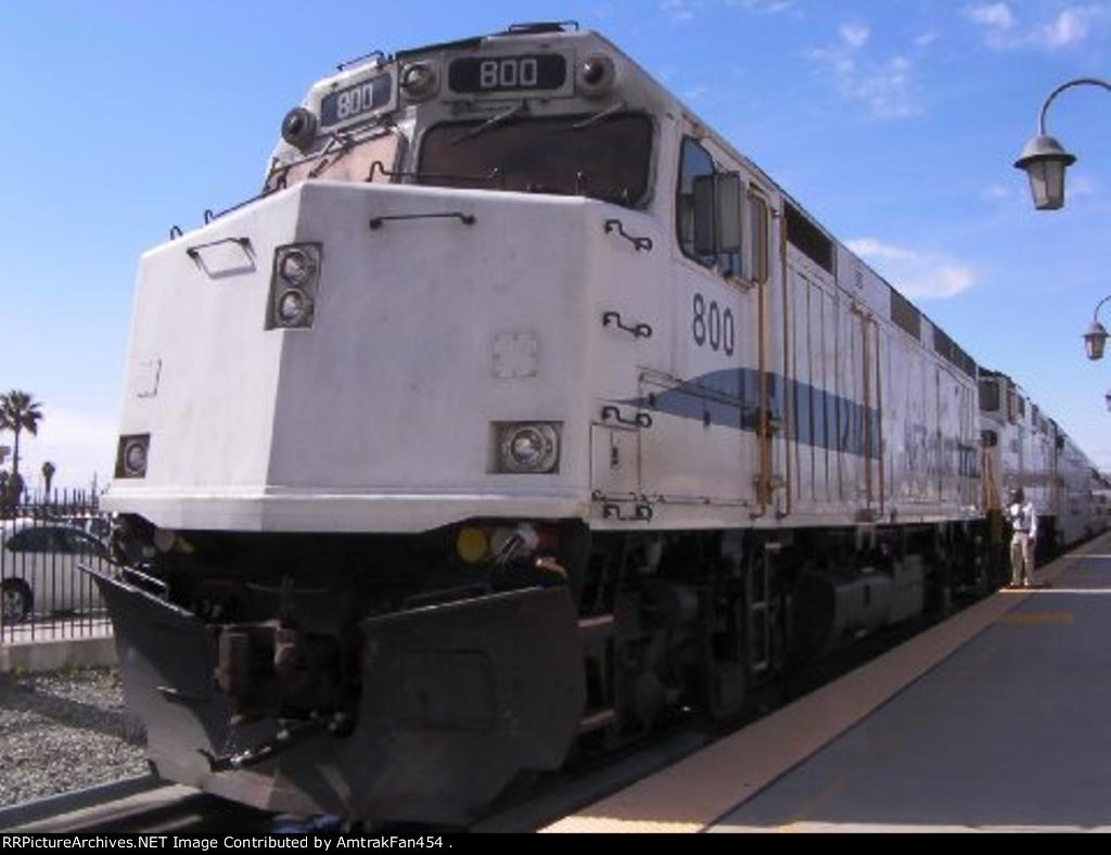 Metrolink 800 at San Bernardino, California