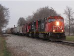 CN 5676 & 5715 start west onto the single track with M397