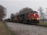 CN 2612 leads M371 westward off the double track