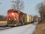 CN power leads Q335-12 westward