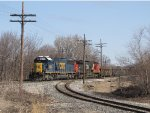 CSX 8526 sits by the north end of the Hamiliton Industrial Spur with Q335-18