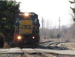 CSX 7498 heads east leading G010-09