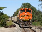 D802-01 follows along on another train of coal loads