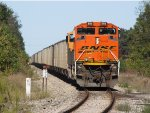 D802 rolls by milepost 33 as another trainload of coal arrives at the power plant