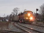 BNSF 8954 leads D801-19 by the Holland Depot signals