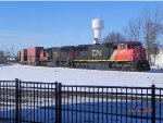 CN X489-08 Sits at Durand, With 2 CN SD75is