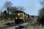 UP 7345 approaches the L&N Depot leading Q275 south at milepost 13