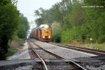 A rare CSX SD80MAC leads Q235 south on the Main at Gossom