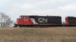 CN 9515 in Idling lash-up. Kankakee, IL