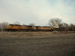 UP 7142 westbound UP empty coal train