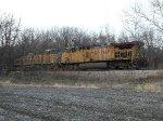 UP 7110 DPU on westbound UP empty coal train