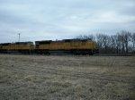 UP 8153 westbound UP empty grain train