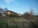 UP 5775 westbound UP empty coal train