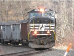 2585 on a west bound coal train on the Conemaugh Line at Salina,Pa.