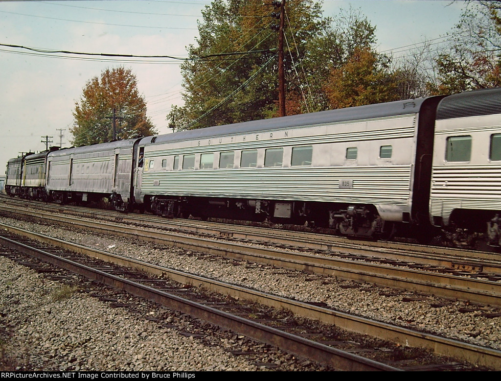 "Southern Coach #835 of 3 car ""Piedmont"" Sept. 1976"