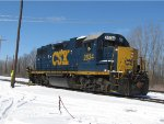 Light engine CSX 2634 prepares to depart