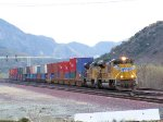 Pair of UP SD70ACe's Climbing Cajon Pass