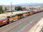 BNSF Grain Hoppers - 4 Pullers, 3 Mid-Train DPUs, and 2 Pushers