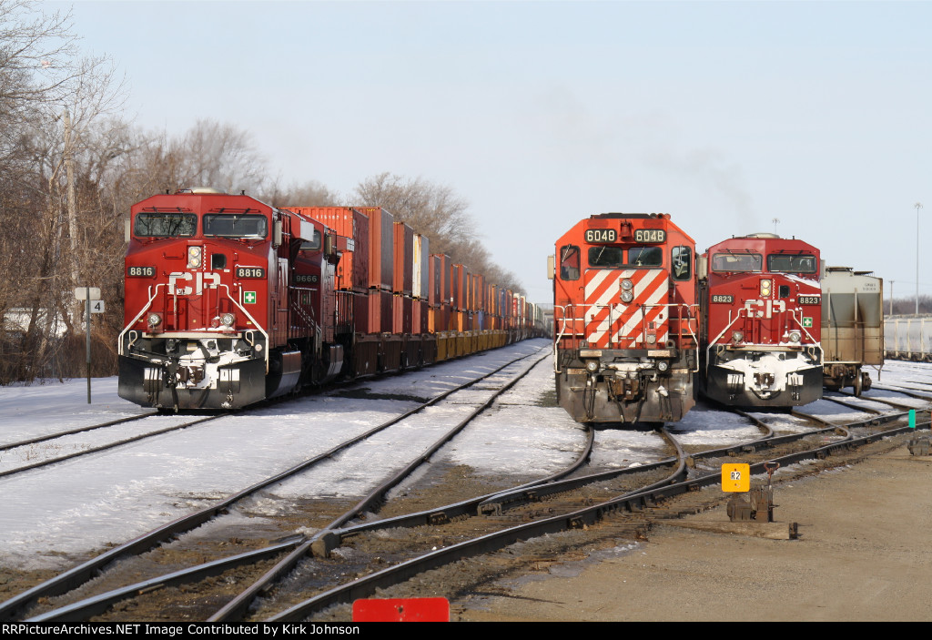 3 CP Consists Waiting in Humboldt Yard