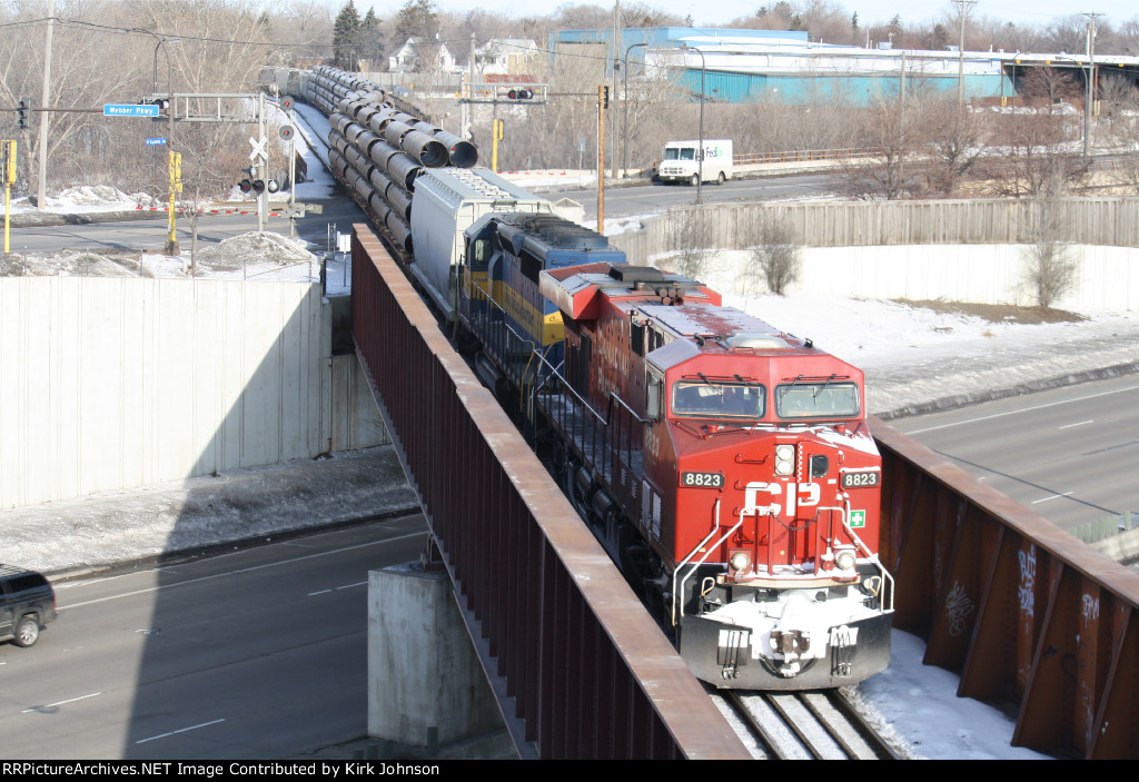 CP 8823 Crossing the Bridge over I-94