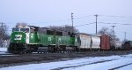2 BNSF SD60Ms back thru University