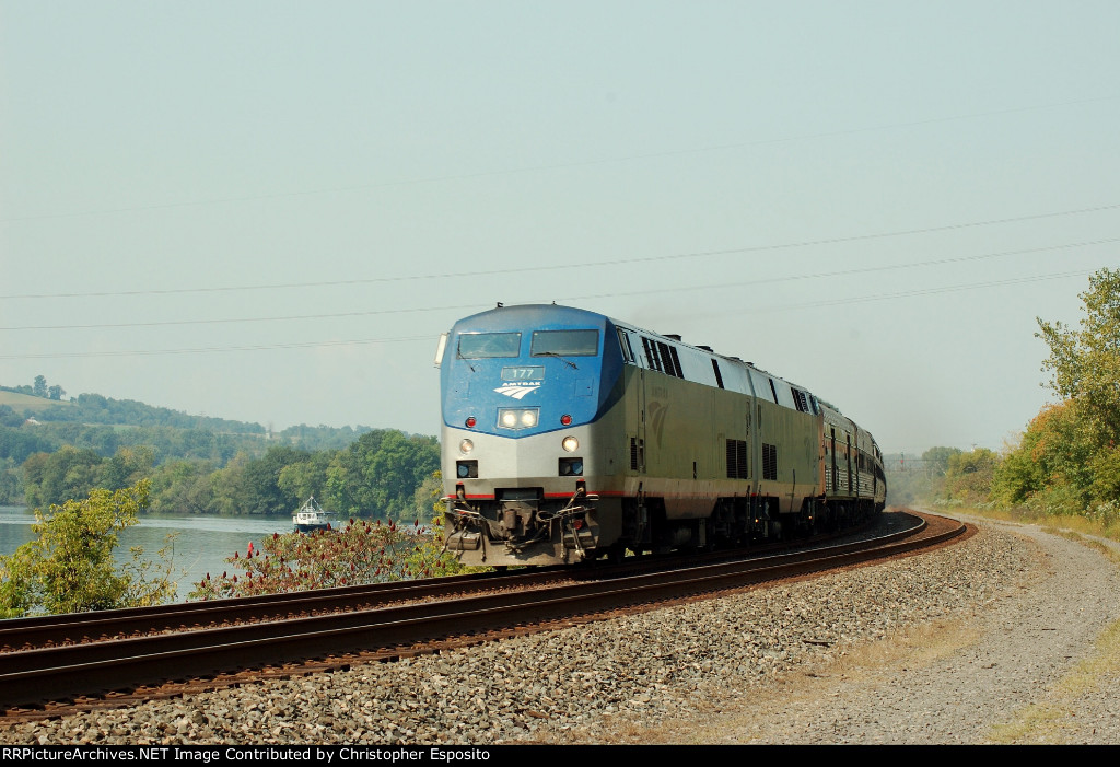 AMTK P42 177 w/ the Lakeshore Limited