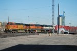 BNSF 5425 Point On South Bound Freight Departing Denver's BNSF Yard