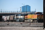 BNSF 4387 Point On An Arriving Freight