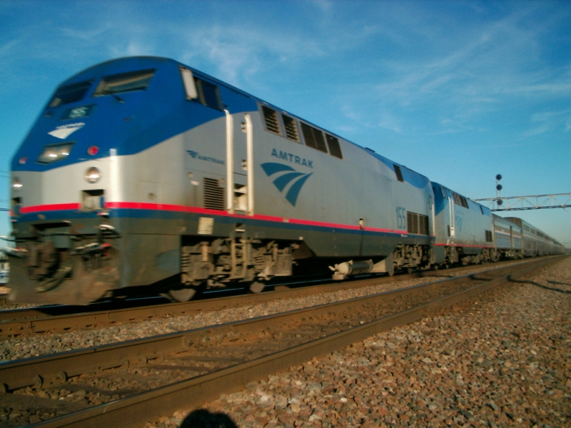 Amtrak fly by