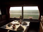 5:40 P.M.-In the Dining Car