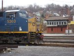 CSX 5360 sits in front of D Tower