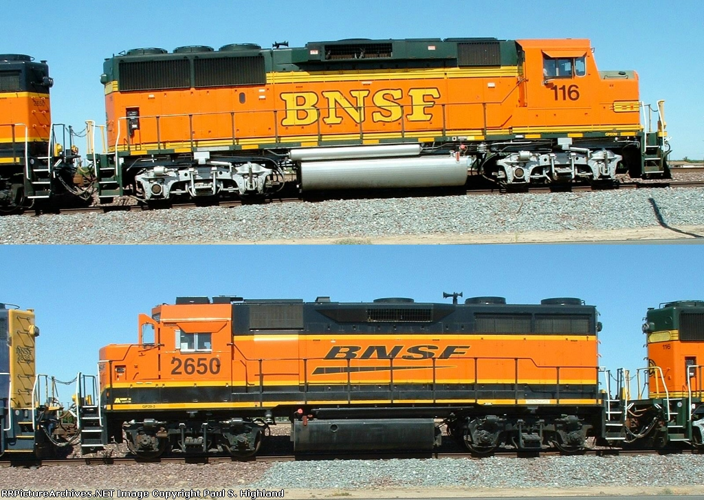 BNSF 116 and 2650