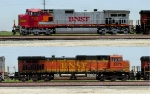 BNSF 721 and 5075