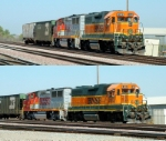 BNSF 2163 and 139
