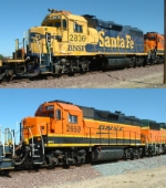 BNSF 2836 and 2650