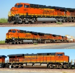 BNSF 6613 and 6616