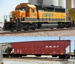 BNSF 6739 and 435542